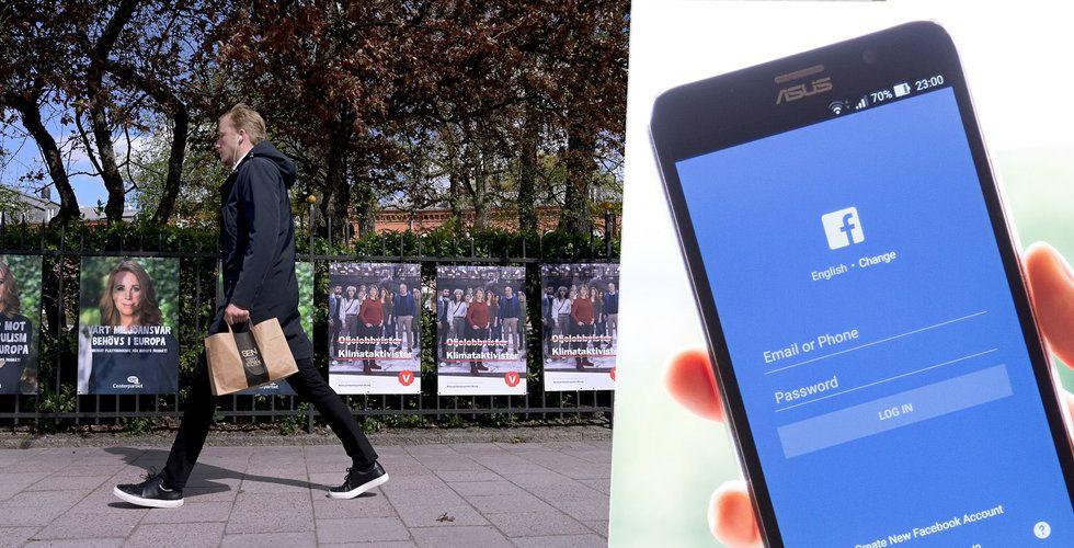 EU-val runt knuten – så mycket lägger partierna på Facebook-annonser