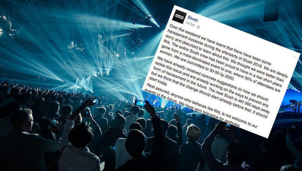 """Trakasserier på techfesten Slush: """"Vi har nolltolerans mot idioter"""""""