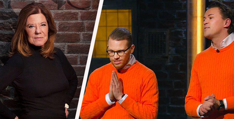 Investeraren Lena Apler och entreprenörerna Andreas Johansson och Michael Kärrberg i SVT:s Draknästet. Foto: SVT/Montage