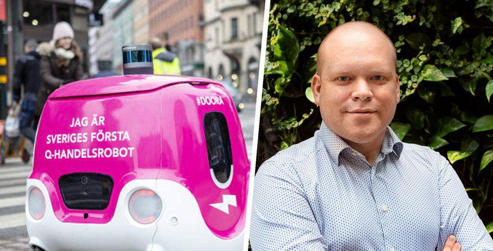 """Nu börjar Foodoras robot rulla i Stockholm: """"Kan bli en vanlig syn på gatorna"""""""