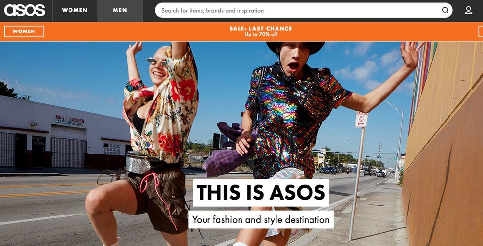 Modesajten Asos ökar både omsättning och vinst