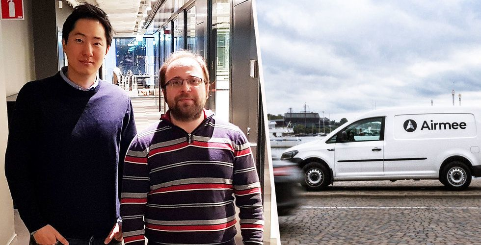 Airmee tar in 38 miljoner till sin tjänst för paketutdelning