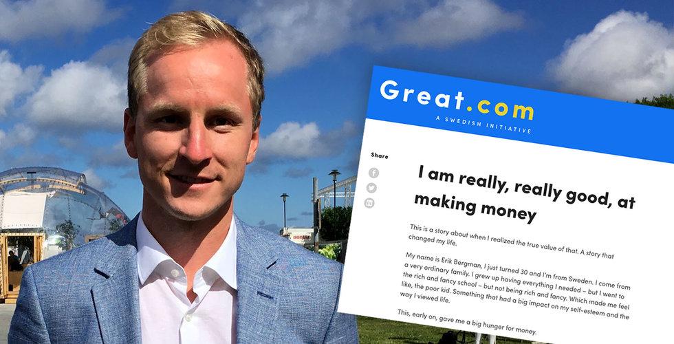 Great.com-grundaren Erik Bergman vill avslöja varje anställds lön – för alla