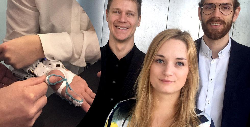 Breakit - Tendos robothandske ska hjälpa sjuka – får in miljoner