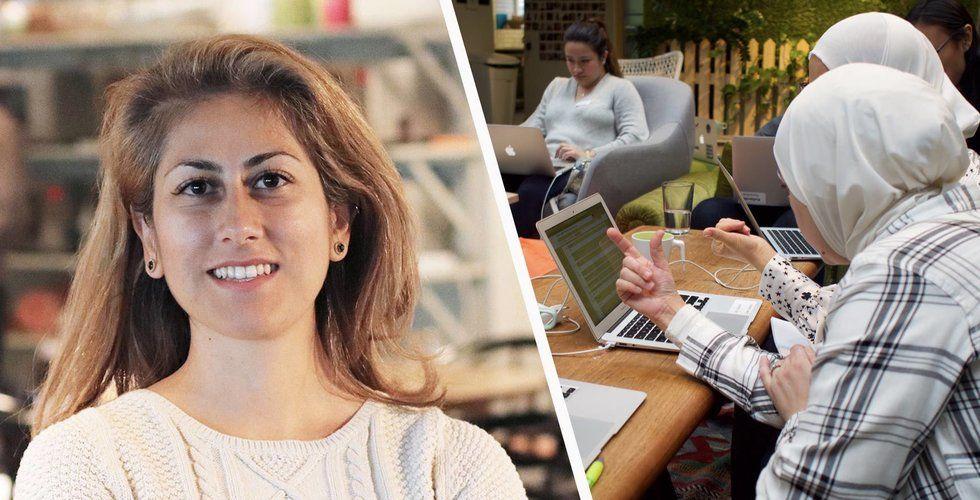 Farnaz Motamediyan vill hjälpa nyanlända kvinnor att bli programmeringsproffs