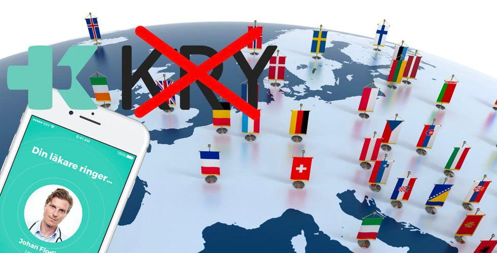 """Nätläkaren påbörjar expansionen – och byter ut """"Kry"""" i Europa"""