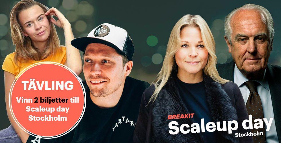 Vill du skala upp ditt bolag? Vinn två biljetter till vårt succéevent Scaleup day i Stockholm!