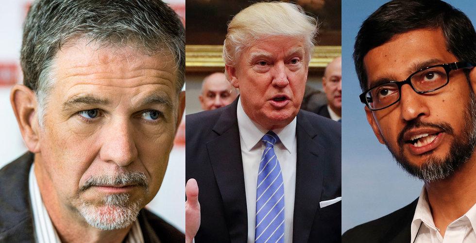 """Breakit - Techjättarna rasar mot Trump: """"Oamerikanskt så att det smärtar"""""""