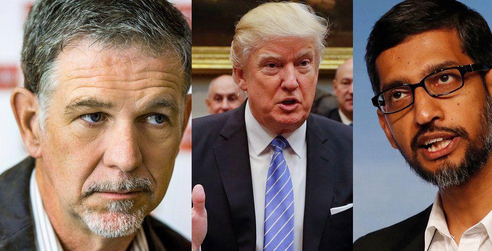 """Techjättarna rasar mot Trump: """"Oamerikanskt så att det smärtar"""""""
