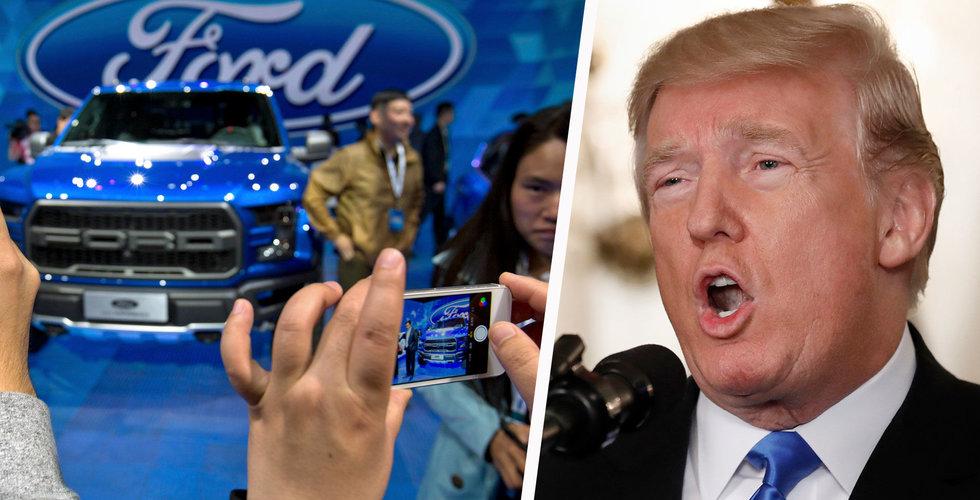 Ford flyttar planerad elbilsproduktion till Mexiko