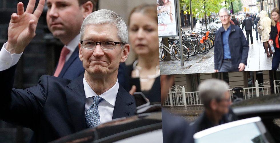 Breakit - Apple-chefen Tim Cook på plats i Stockholm