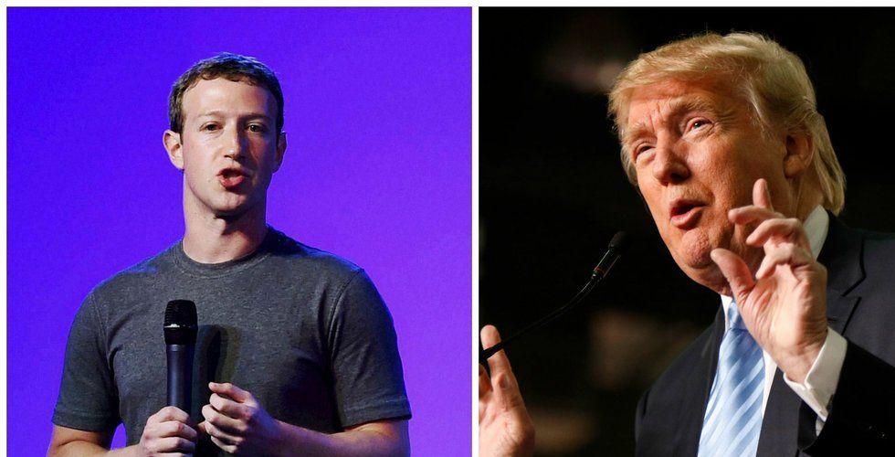 Zuckerberg dementerar att det ska förekomma hemligt avtal med Trump