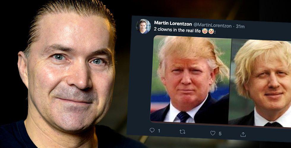 """Spotify-grundaren Martin Lorentzons hån mot Trump och Johnson: """"Två clowner"""""""