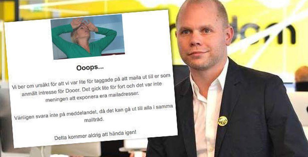 Breakit - Dooer skickade precis ut sin hemliga lista i ett massmejl