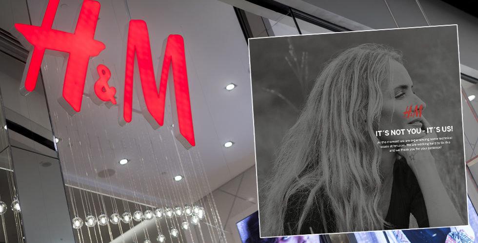 H&M:s sajt ligger nere
