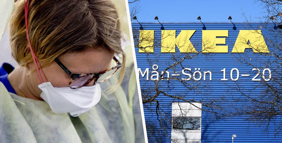 Ikea-varuhus görs om till testanläggning för corona-virus