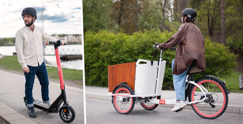 Voi breddar flottan – lanserar cyklar och nya elscootrar