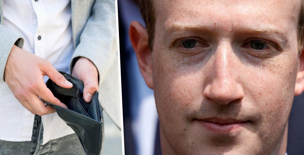 19 procent av Mark Zuckerbergs förmögenhet borta i ett nafs