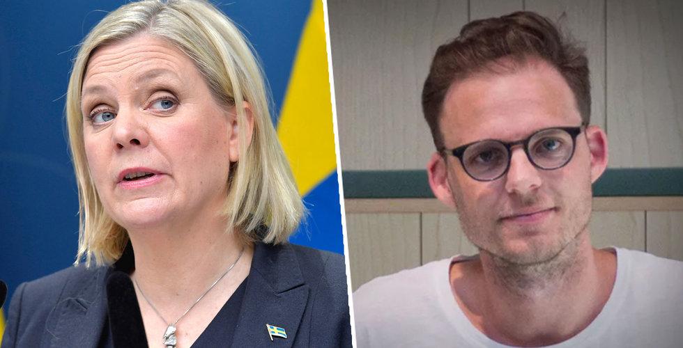 """Patrik Arnesson sågar stödpaket: """"Ska vi jobba mindre i krisen?"""""""
