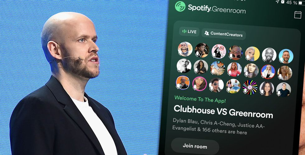 Tungt för Spotifys Clubhouse-dödare Greenroom – så många har laddat ner den
