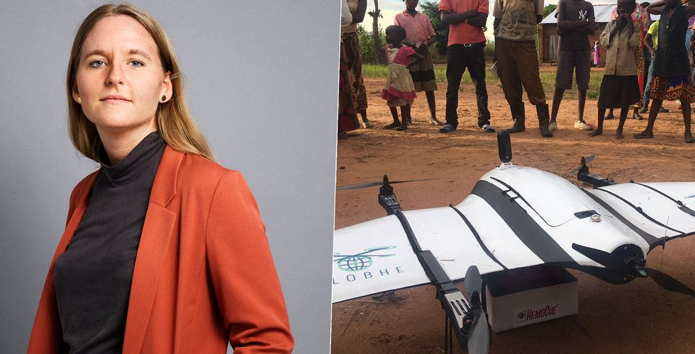 """Drönardrottningen Helena Samsioe ger FN vingar: """"Räddar liv"""""""