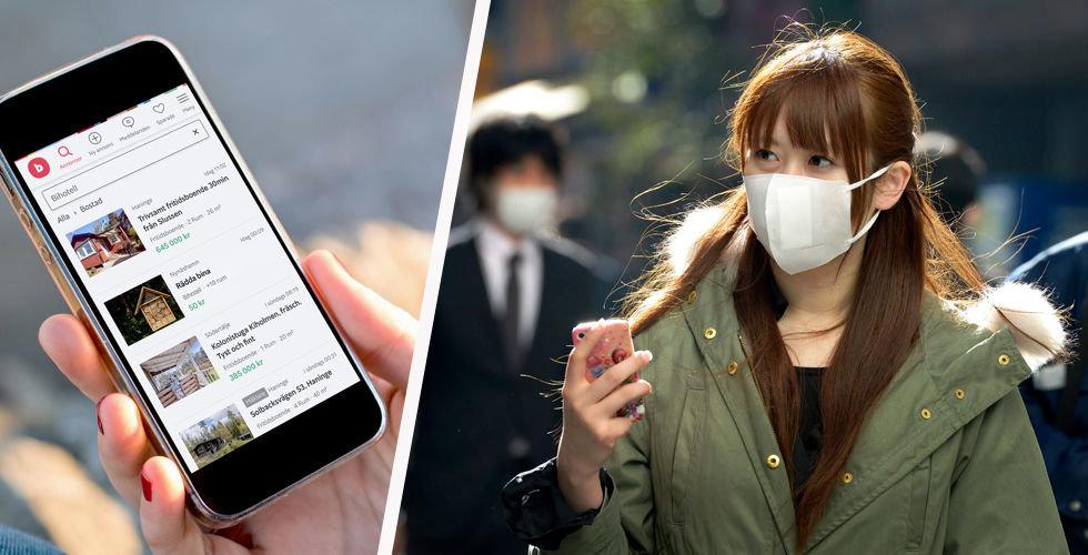 Blocket förbjuder annonser för handsprit och munskydd
