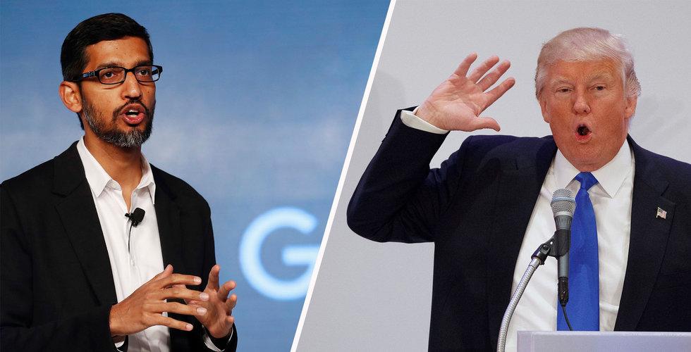 Google svarar på Trumps anklagelser om riggade nyhetssökningar