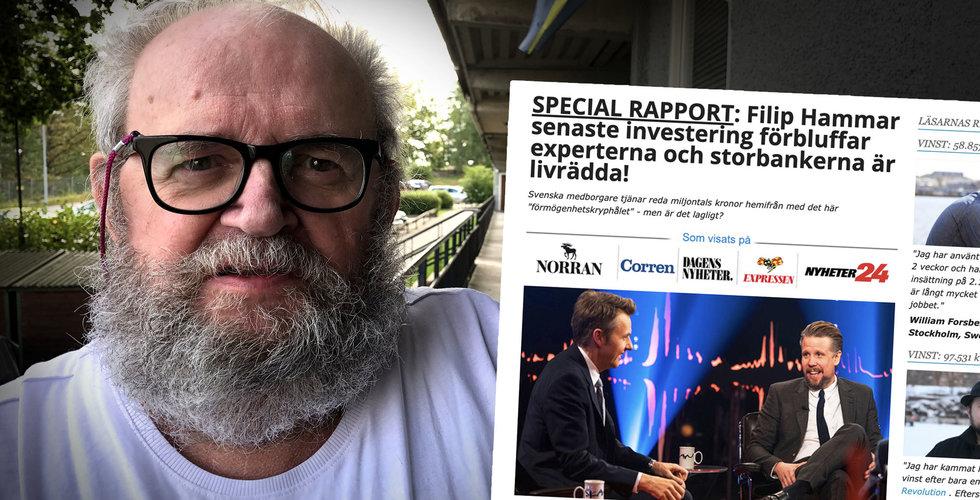 Johnny, 77, klickade på Filip Hammar – sen blev han av med sina pengar