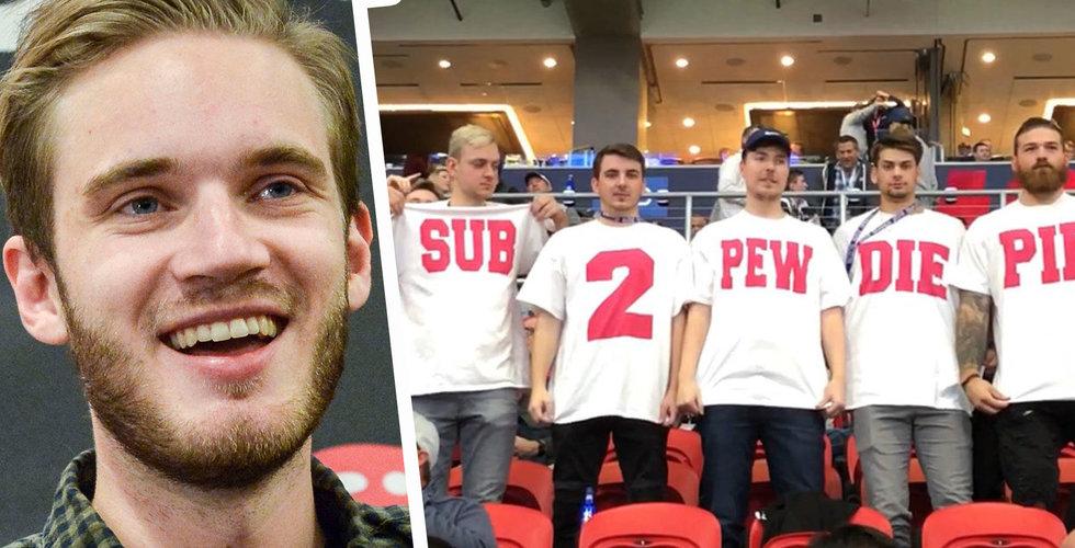 Pewdiepie tampas mot T-series – fick hjälp på traven under Super Bowl