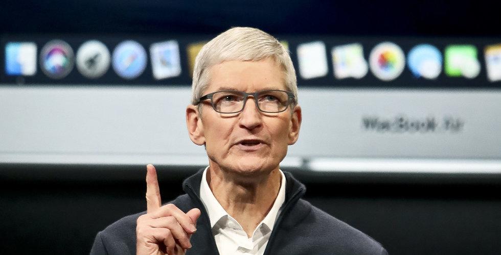 Uppåt för Apple – men Iphone-försäljningen tynger