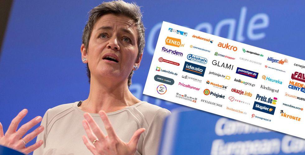 Prisjakt och Pricerunner bland 41 sajter i öppet EU-brev för att stoppa Google