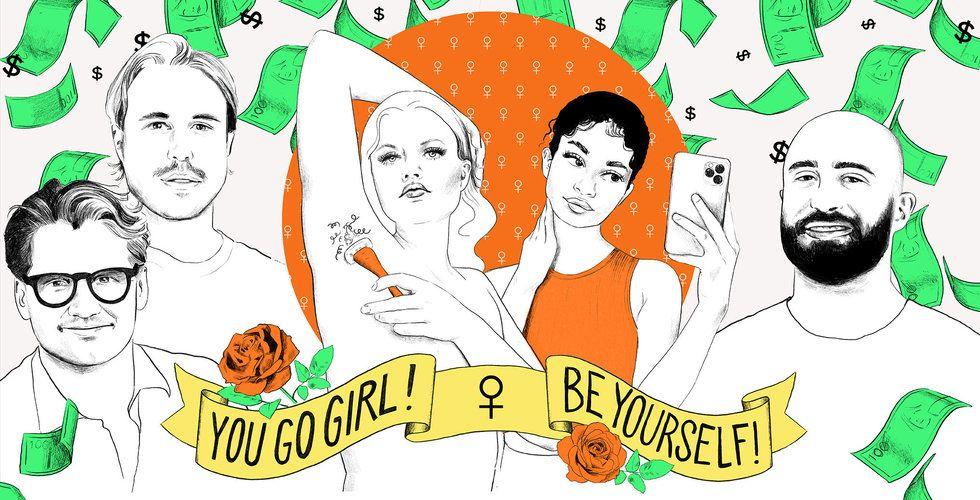 Männen bygger miljardbolag på feminism – kvinnor kammar hem noll