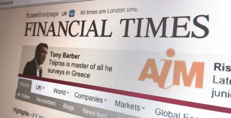 Financial Times sätter rekord i betalande prenumeranter