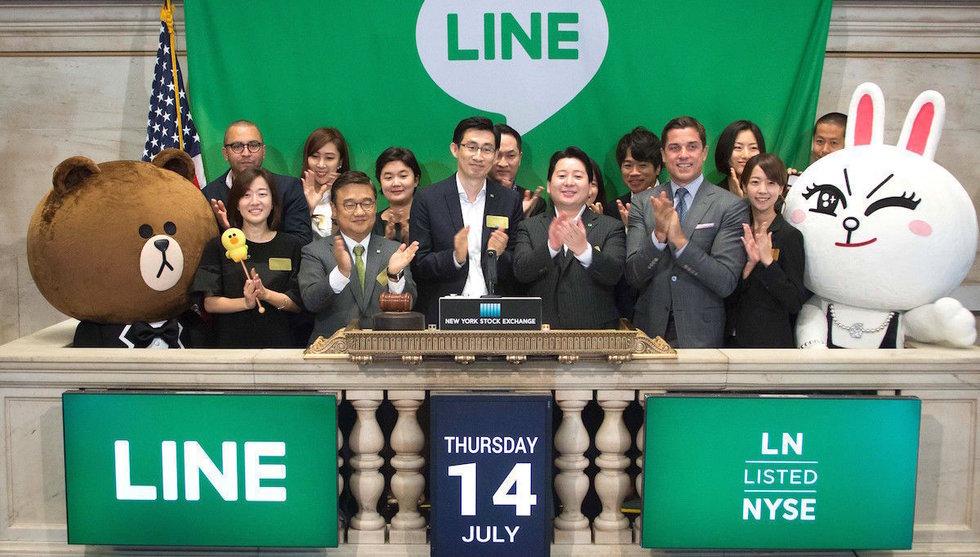 Line rusade 26 procent i årets största börsnotering inom tech