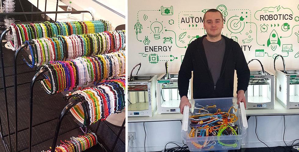 Stockholm Makerspace hjälper vården med skyddsutrustning