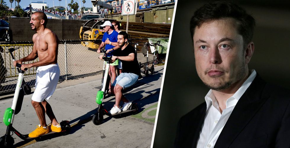 """Elon Musk sågar elscooter-trenden: """"Saknar värdighet"""""""
