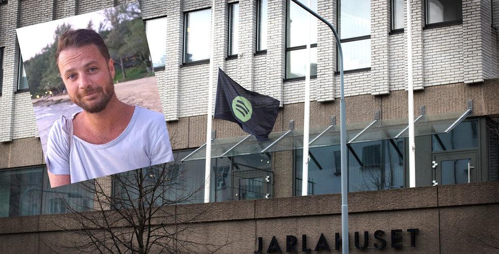 Spotify sörjer i dag – flaggar på halv stång för Chris Bevington
