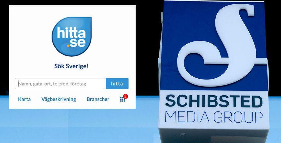 Schibsted jagar nya ägare till Hitta.se - men omsättningen faller
