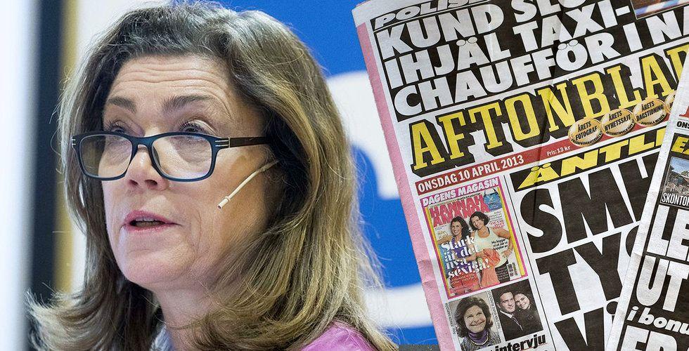 Aftonbladets intäkter fortsätter att falla