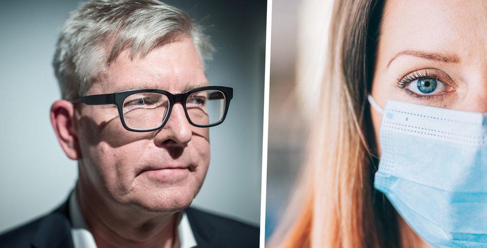 Ericsson gör ansiktsmask obligatorisk