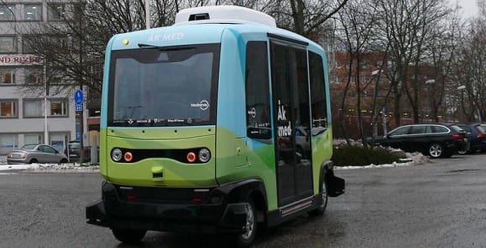 Sakta i backarna  – här är första svenska bussen utan förare