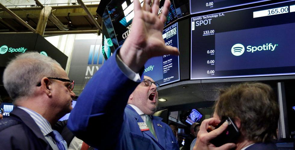 Spotify föll kraftigt när New York-börsen öppnade