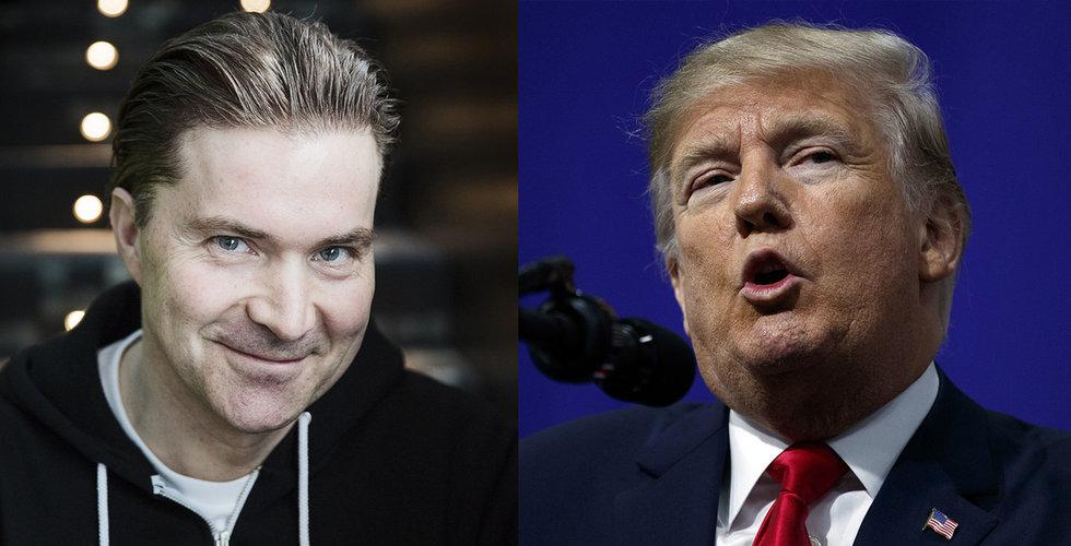 """Breakit - Spotify nobbade Trump: """"Jag kan tyvärr inte"""""""