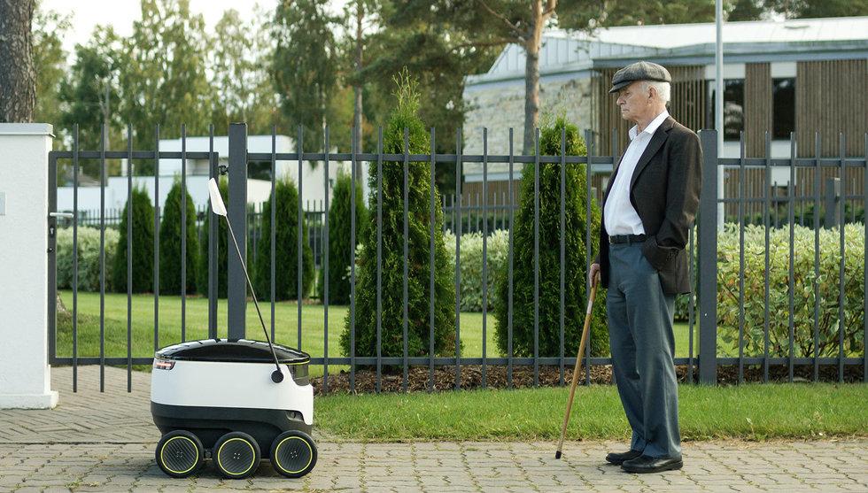 Skype-grundare lanserar robot som kör hem mat till dörren