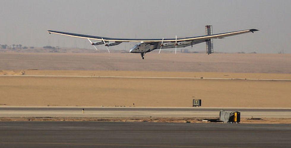 Det här flyget har rest hela jorden runt - utan en droppe bensin