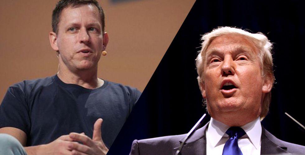 Techmiljardären Peter Thiel sluter upp bakom Donald Trump