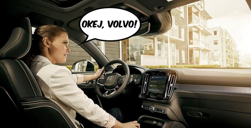 """""""Okej Volvo, nu kör vi!"""" – Googles AI-assistent flyttar in i nya bilarna"""