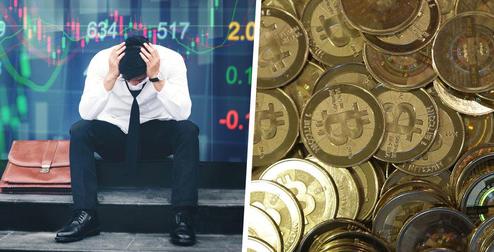 Börsen faller – då rusar bitcoin-kursen