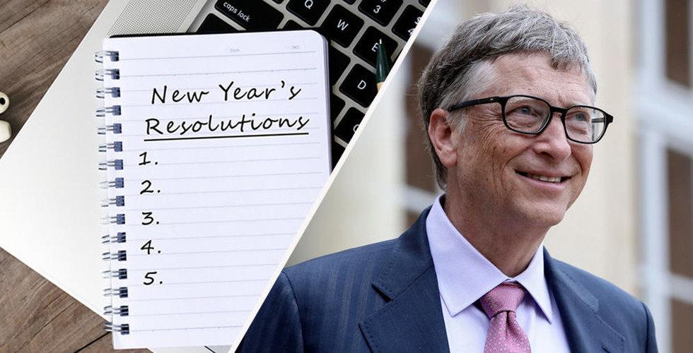 Här är Bill Gates nyårslöften – och de handlar inte om träning