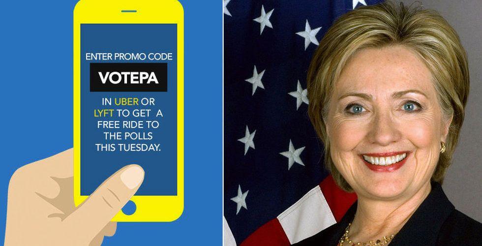 Hillary Clintons oväntade valarbetare på ödesdagen – Uber